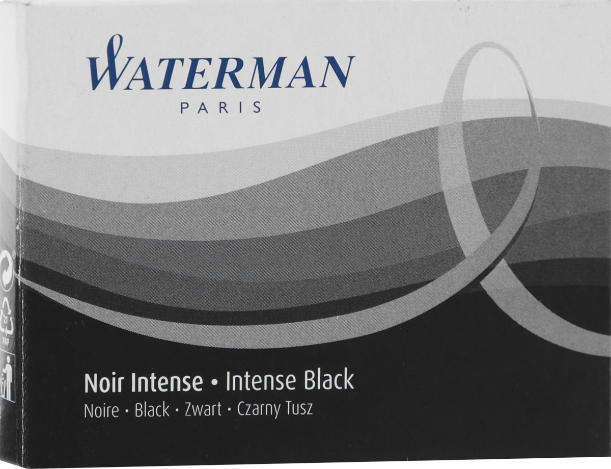 Waterman Картридж для ручки Long цвет черный 8 шт ручки waterman s0898650