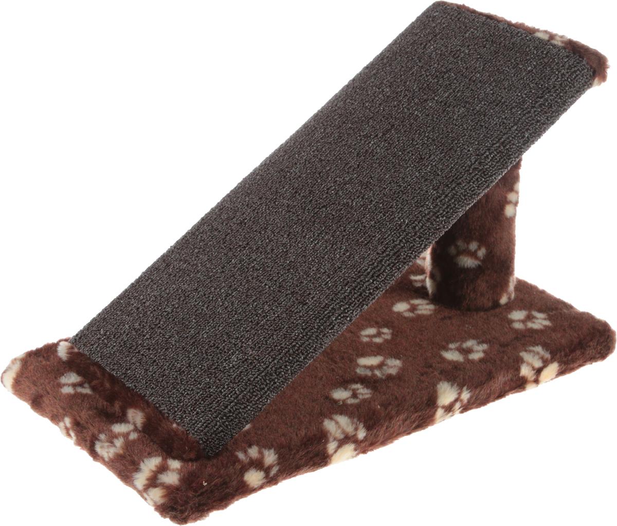Когтеточка для котят Меридиан Горка, цвет: коричневый, белый, 45 х 25 х 25 см цена