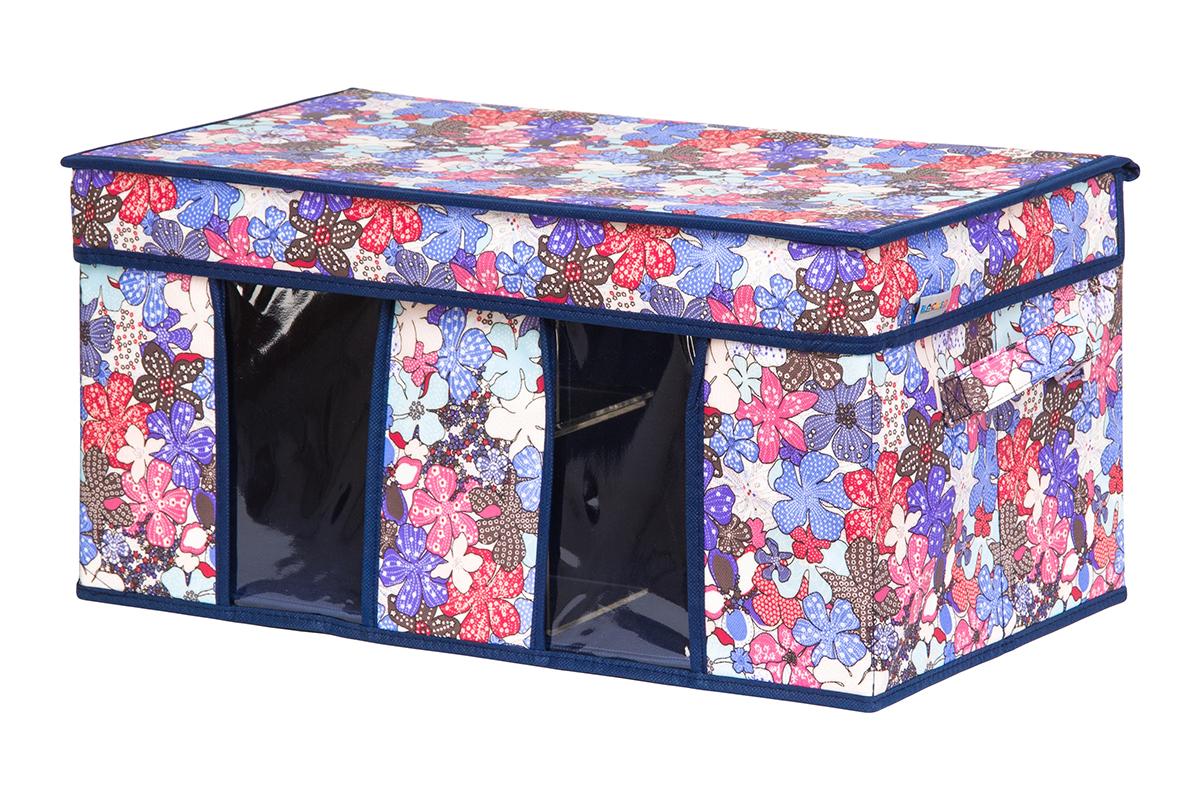 Кофр для хранения вещей EL Casa Цветочное созвездие, складной, 50 х 29 х 24 см840208Вместительный кофр для хранения одежды и домашнего текстиля с 2 ручками. Прозрачные вставки позволяют видеть содержимое кофра. Благодаря эстетичному дизайну кофр гармонично смотрится в любом интерьере.