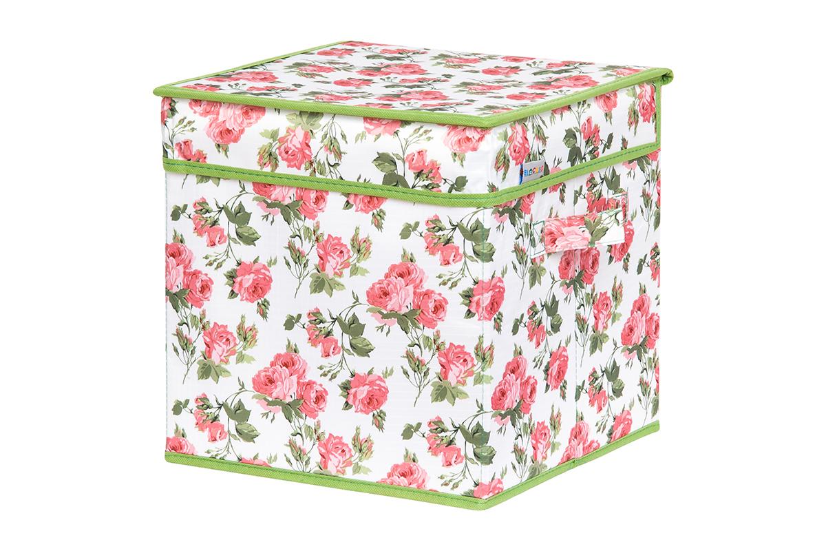 Кофр для хранения вещей EL Casa Розовый рассвет, складной, 28 х 28 х 28 см840214Кофр для хранения представляет собой закрывающуюся крышкой коробку жесткой конструкции, благодаря наличию внутри плотных листов картона. Специально предназначен для защиты Вашей одежды от воздействия негативных внешних факторов: влаги и сырости, моли, выгорания, грязи. Благодаря оригинальному дизайну кофр будет гармонично смотреться в любом интерьере.