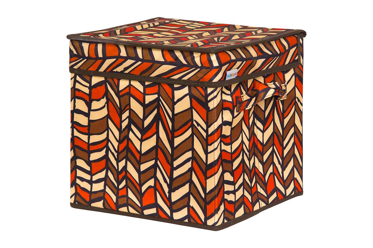 Кофр для хранения вещей EL Casa Африка, складной, 28 х 28 х 28 см840217Кофр для хранения представляет собой закрывающуюся крышкой коробку жесткой конструкции, благодаря наличию внутри плотных листов картона. Специально предназначен для защиты Вашей одежды от воздействия негативных внешних факторов: влаги и сырости, моли, выгорания, грязи. Благодаря оригинальному дизайну кофр будет гармонично смотреться в любом интерьере.
