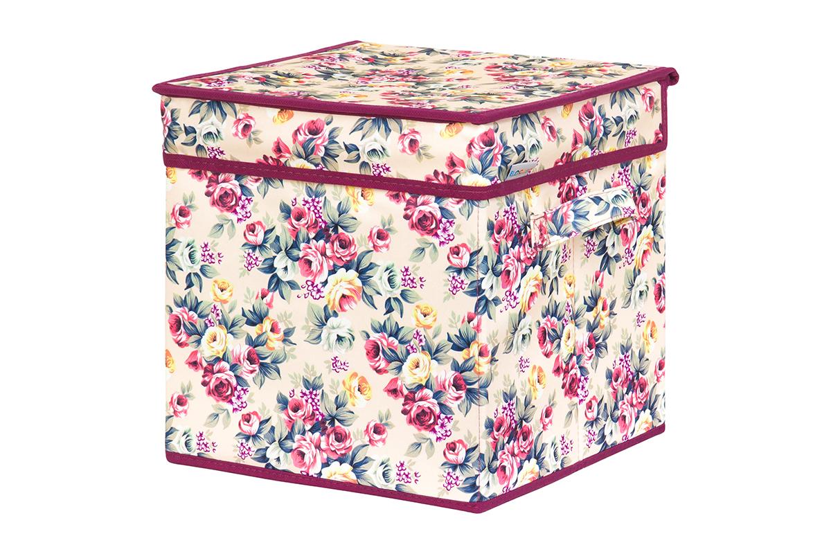 Кофр для хранения вещей EL Casa Розовый букет, складной, 28 х 28 х 28 см840218Кофр для хранения представляет собой закрывающуюся крышкой коробку жесткой конструкции, благодаря наличию внутри плотных листов картона. Специально предназначен для защиты Вашей одежды от воздействия негативных внешних факторов: влаги и сырости, моли, выгорания, грязи. Благодаря оригинальному дизайну кофр будет гармонично смотреться в любом интерьере.