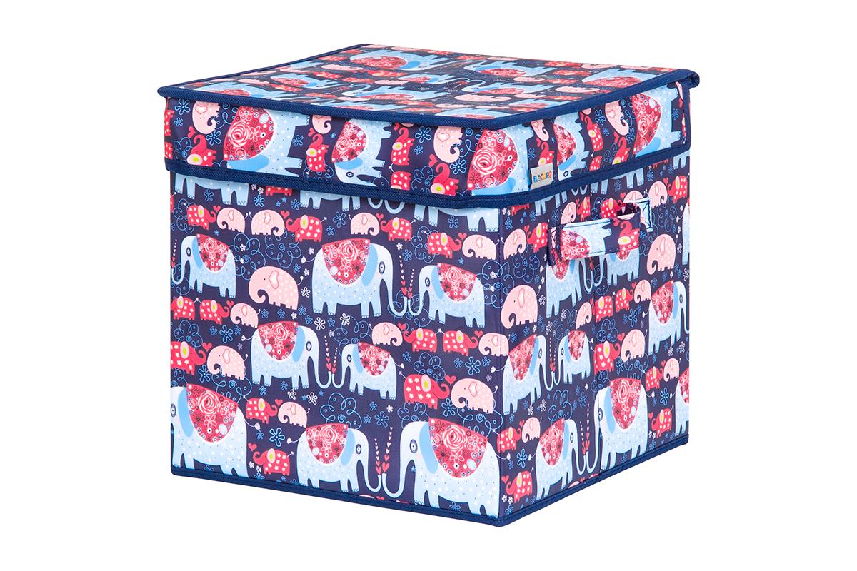 Кофр для хранения вещей EL Casa Слоники, складной, 28 х 28 х 28 см840221Кофр для хранения представляет собой закрывающуюся крышкой коробку жесткой конструкции, благодаря наличию внутри плотных листов картона. Специально предназначен для защиты Вашей одежды от воздействия негативных внешних факторов: влаги и сырости, моли, выгорания, грязи. Благодаря оригинальному дизайну кофр будет гармонично смотреться в любом интерьере.