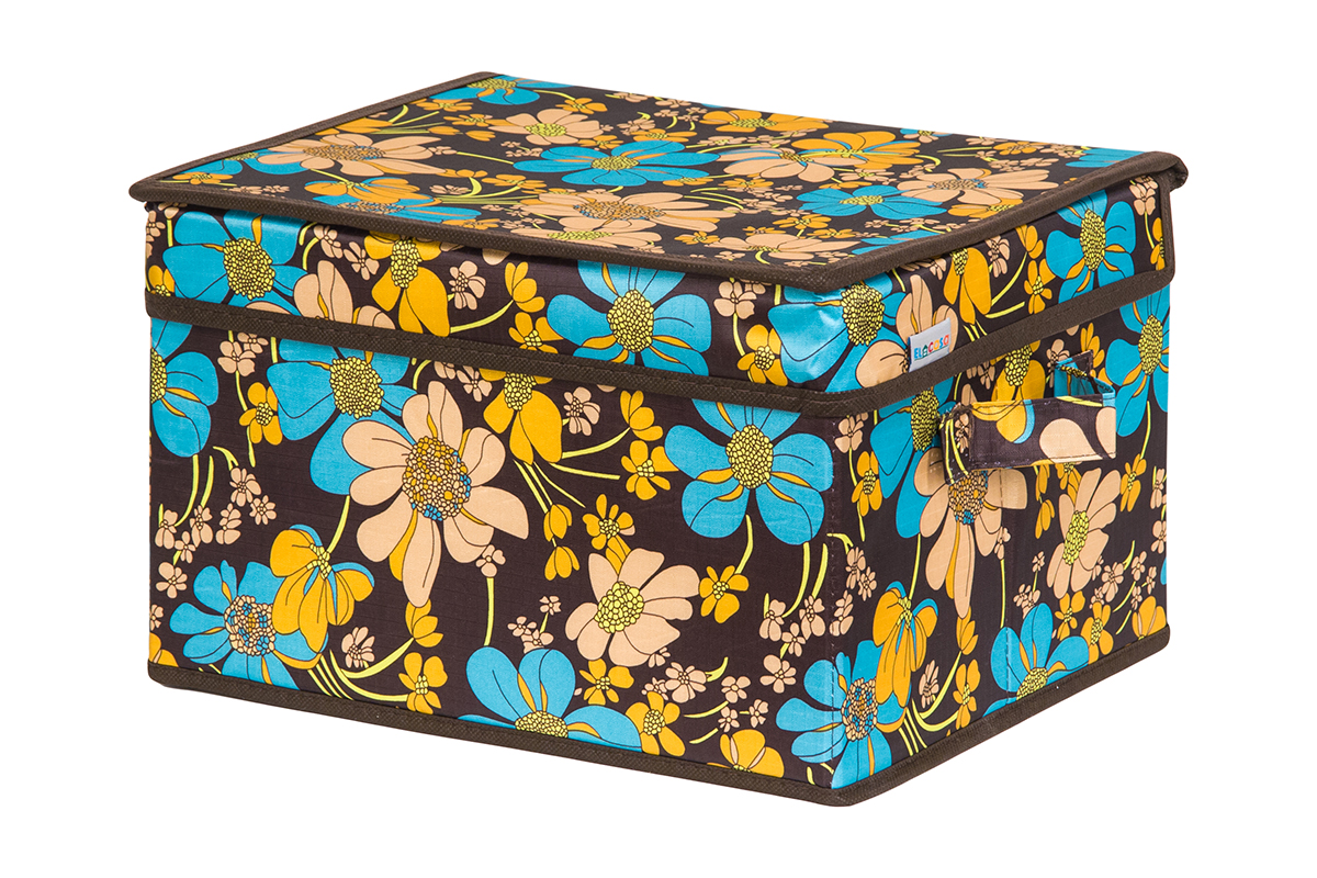 Кофр для хранения вещей EL Casa Ромашковое поле, складной, 32 х 27 х 20 см840227Кофр для хранения представляет собой закрывающуюся крышкой коробку жесткой конструкции, благодаря наличию внутри плотных листов картона. Специально предназначен для защиты Вашей одежды от воздействия негативных внешних факторов: влаги и сырости, моли, выгорания, грязи. Благодаря оригинальному дизайну кофр будет гармонично смотреться в любом интерьере.