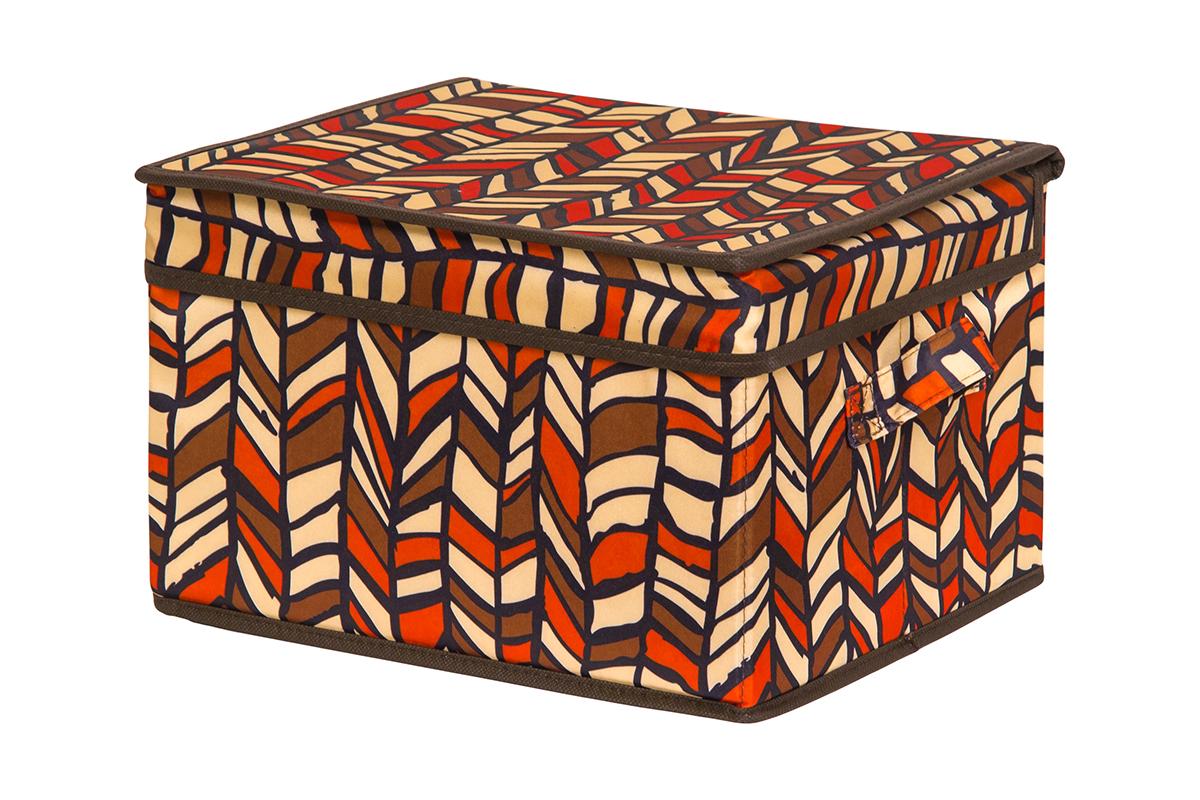 Кофр для хранения вещей EL Casa Африка, складной, 32 х 27 х 20 см840228Кофр для хранения представляет собой закрывающуюся крышкой коробку жесткой конструкции, благодаря наличию внутри плотных листов картона. Специально предназначен для защиты Вашей одежды от воздействия негативных внешних факторов: влаги и сырости, моли, выгорания, грязи. Благодаря оригинальному дизайну кофр будет гармонично смотреться в любом интерьере.