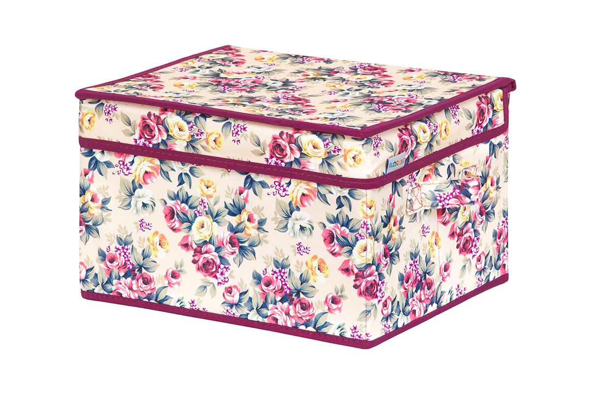 Кофр для хранения вещей EL Casa Розовый букет, складной, 32 х 27 х 20 см840229Кофр для хранения представляет собой закрывающуюся крышкой коробку жесткой конструкции, благодаря наличию внутри плотных листов картона. Специально предназначен для защиты Вашей одежды от воздействия негативных внешних факторов: влаги и сырости, моли, выгорания, грязи. Благодаря оригинальному дизайну кофр будет гармонично смотреться в любом интерьере.