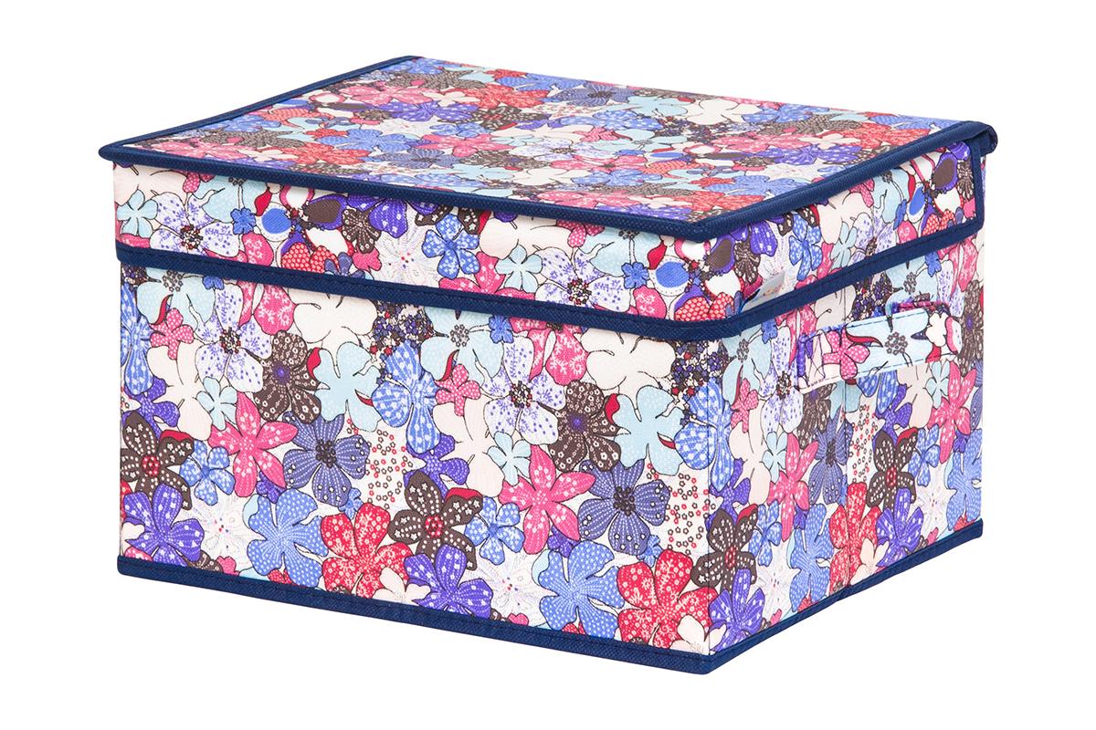 Кофр для хранения вещей EL Casa Цветочное созвездие, складной, 32 х 27 х 20 см840230Кофр для хранения представляет собой закрывающуюся крышкой коробку жесткой конструкции, благодаря наличию внутри плотных листов картона. Специально предназначен для защиты одежды от воздействия негативных внешних факторов: влаги и сырости, моли, выгорания, грязиБлагодаря оригинальному дизайну кофр будет гармонично смотреться в любом интерьере.