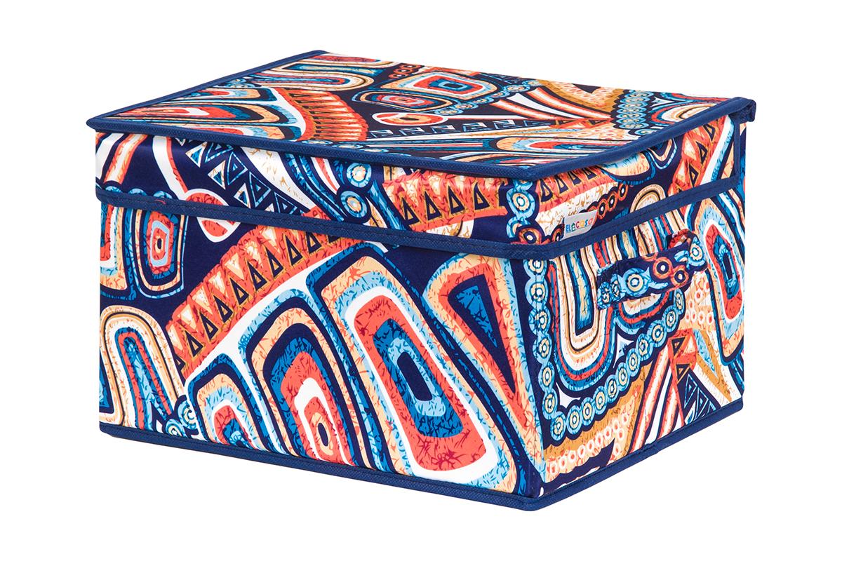 Кофр для хранения вещей EL Casa Мексика, складной, 32 х 27 х 20 см840231Кофр для хранения представляет собой закрывающуюся крышкой коробку жесткой конструкции, благодаря наличию внутри плотных листов картона. Специально предназначен для защиты Вашей одежды от воздействия негативных внешних факторов: влаги и сырости, моли, выгорания, грязи. Благодаря оригинальному дизайну кофр будет гармонично смотреться в любом интерьере.