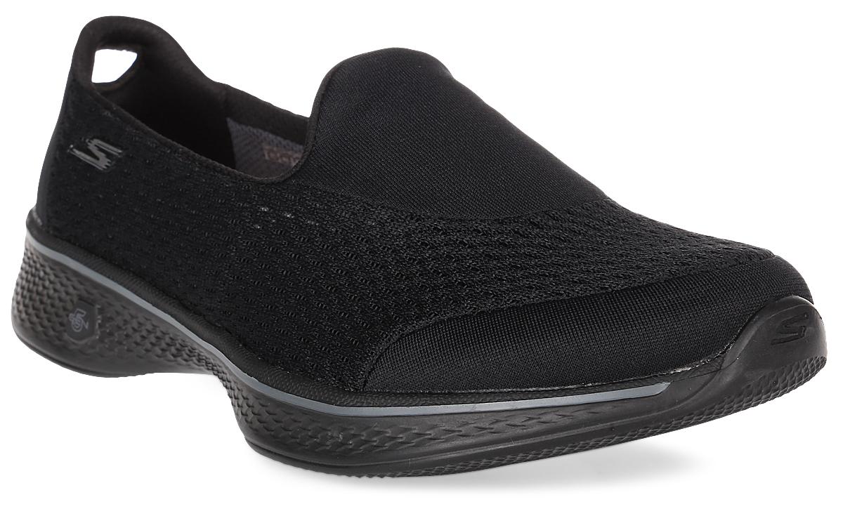 Кроссовки женские Skechers Go Walk 4 - Pursuit, цвет: черный. 14148-BBK. Размер 6 (36)14148-BBKЖенские кроссовки от Skechers предназначены для ходьбы и занятий спортом. Новая инновационная подошва Resalyte Flex, которая используется в этой обуви, обеспечивает максимальную гибкость при ходьбе. В этой модели также применяется стелька GOGA Mat, они обладает хорошим амортизационным качеством и обработана биоцидом для борьбы с микробами, вызывающими специфический запах. В подметке обуви установлены специальные выступы Mini GO impulse sensors, которые гарантируют превосходное сцепление с поверхностью. Бесшовный верх обуви выполнен из очень легкого, тянущегося и хорошо вентилируемого текстиля Supersocks, благодаря которому обувь идеально сидит на ноге.