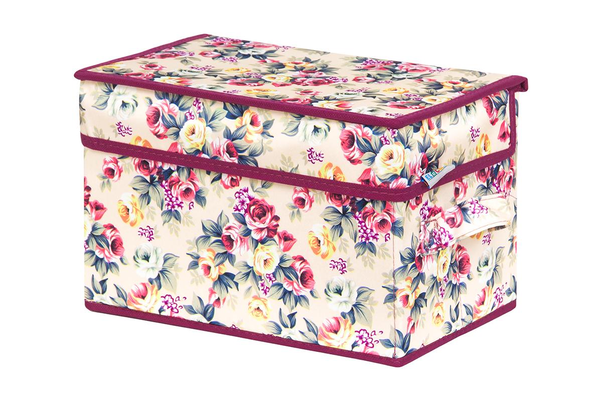 Кофр для хранения вещей EL Casa Розовый букет, складной, 28 х 18 х 18 см840251Кофр для хранения представляет собой закрывающуюся крышкой коробку жесткой конструкции, благодаря наличию внутри плотных листов картона. Специально предназначен для защиты Вашей одежды от воздействия негативных внешних факторов: влаги и сырости, моли, выгорания, грязи. Благодаря оригинальному дизайну кофр будет гармонично смотреться в любом интерьере.