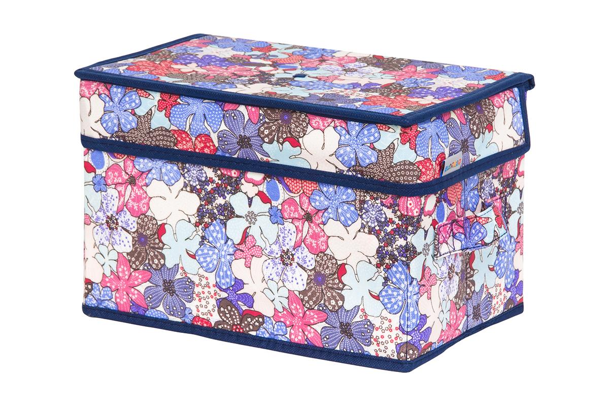 Кофр для хранения вещей EL Casa Цветочное созвездие, складной, 28 х 18 х 18 см840252Кофр для хранения представляет собой закрывающуюся крышкой коробку жесткой конструкции, благодаря наличию внутри плотных листов картона. Специально предназначен для защиты одежды от воздействия негативных внешних факторов: влаги и сырости, моли, выгорания, грязиБлагодаря оригинальному дизайну кофр будет гармонично смотреться в любом интерьере.