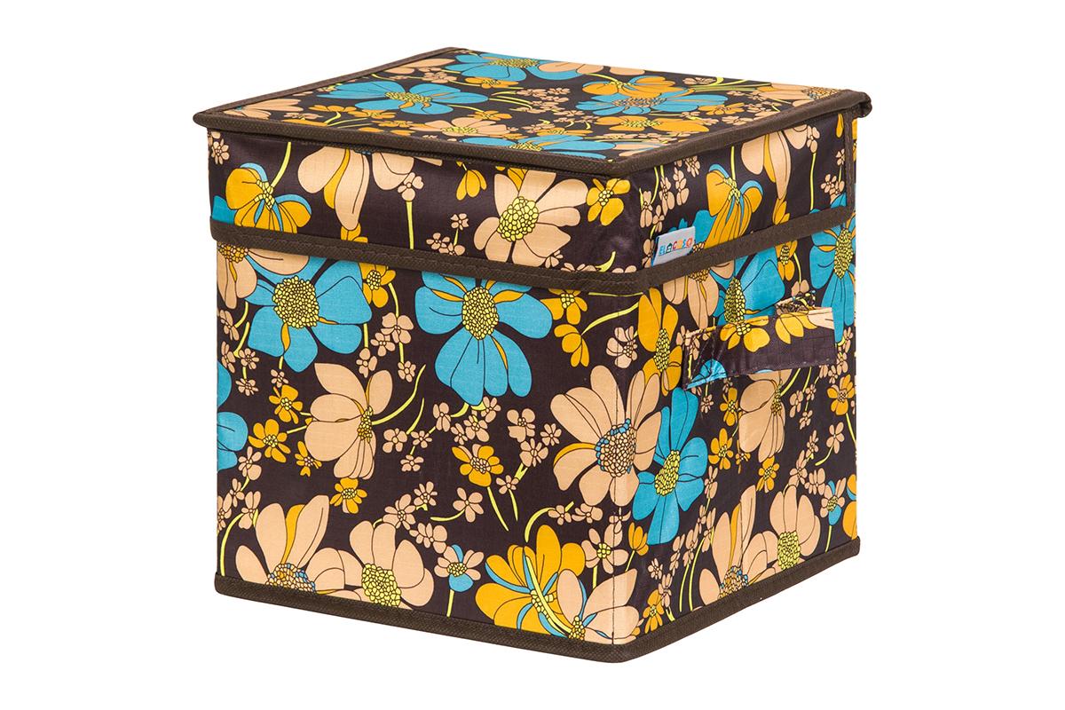 Кофр для хранения вещей EL Casa Ромашковое поле, складной, 22 х 22 х 22 см840260Кофр для хранения представляет собой закрывающуюся крышкой коробку жесткой конструкции, благодаря наличию внутри плотных листов картона. Специально предназначен для защиты вашей одежды от воздействия негативных внешних факторов: влаги и сырости, моли, выгорания, грязи. Благодаря оригинальному дизайну кофр будет гармонично смотреться в любом интерьере.