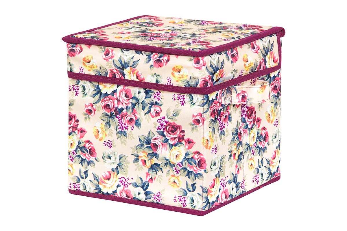 Кофр для хранения вещей EL Casa Розовый букет, складной, 22 х 22 х 22 см840262Кофр для хранения представляет собой закрывающуюся крышкой коробку жесткой конструкции, благодаря наличию внутри плотных листов картона. Специально предназначен для защиты Вашей одежды от воздействия негативных внешних факторов: влаги и сырости, моли, выгорания, грязи. Благодаря оригинальному дизайну кофр будет гармонично смотреться в любом интерьере.