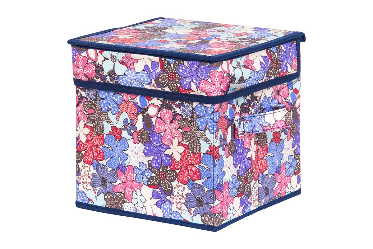 Кофр для хранения вещей EL Casa Цветочное созвездие, складной, 22 х 22 х 22 см840263Кофр для хранения вещей EL Casa Цветочное созвездие представляет собой закрывающуюся крышкой коробку жесткой конструкции, благодаря наличию внутри плотных листов картона. Специально предназначен для защиты вашей одежды от воздействия негативных внешних факторов: влаги и сырости, моли, выгорания, грязи. Благодаря оригинальному дизайну кофр будет гармонично смотреться в любом интерьере.Размер:22 х 22 х 22 см