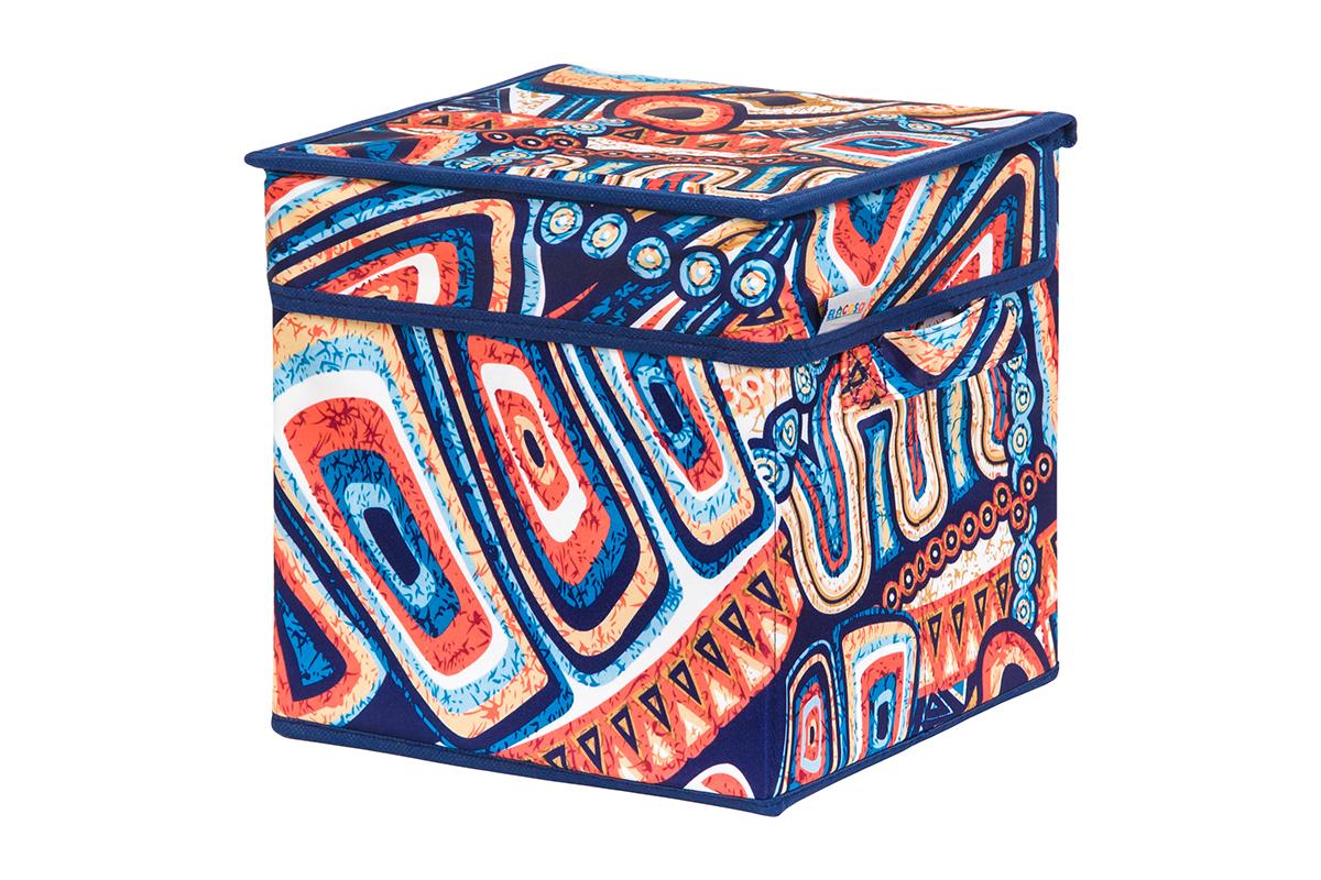 Кофр для хранения вещей EL Casa Мексика, складной, 22 х 22 х 22 см840264Кофр для хранения представляет собой закрывающуюся крышкой коробку жесткой конструкции, благодаря наличию внутри плотных листов картона. Специально предназначен для защиты Вашей одежды от воздействия негативных внешних факторов: влаги и сырости, моли, выгорания, грязи. Благодаря оригинальному дизайну кофр будет гармонично смотреться в любом интерьере.