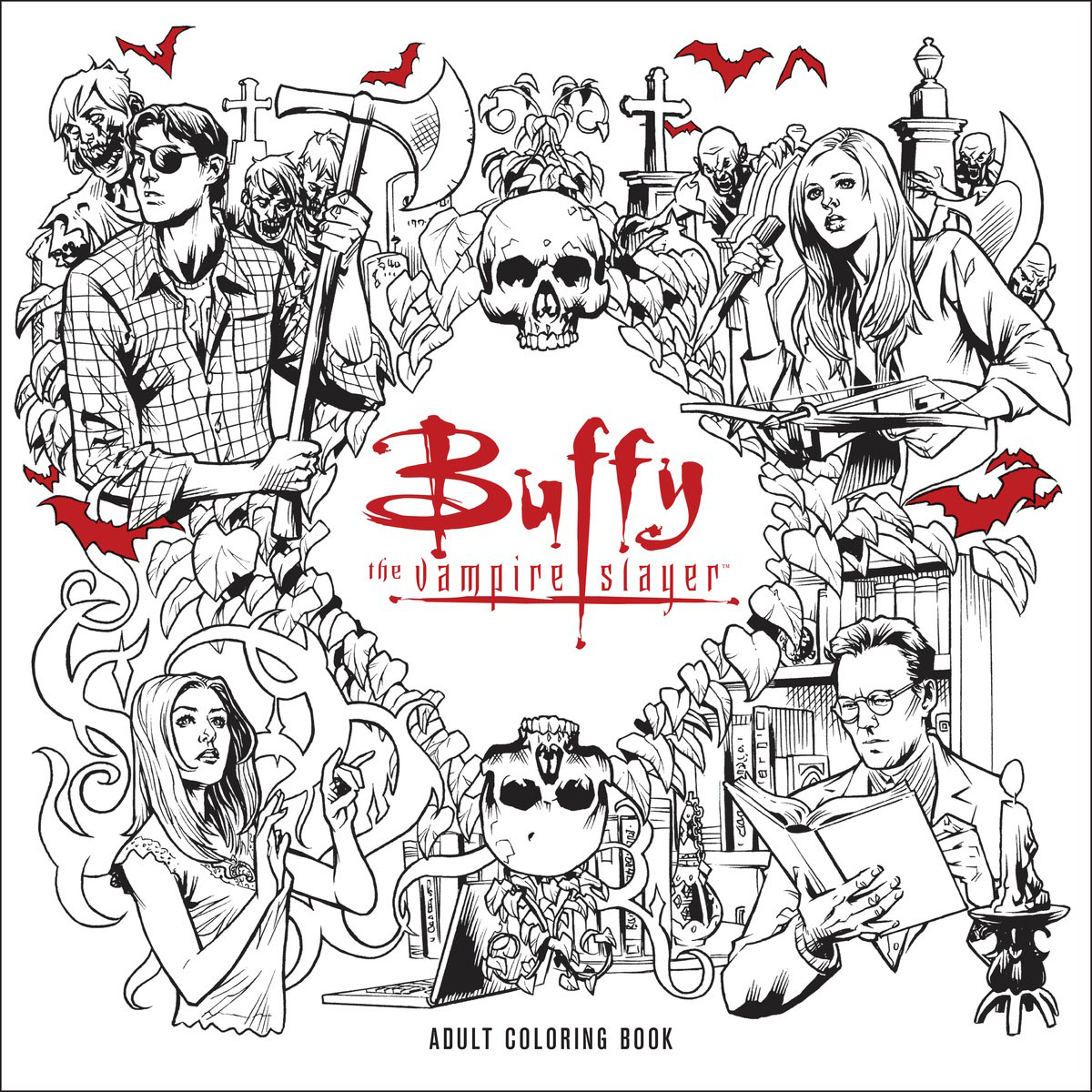 Buffy the Vampire Slayer Adult Coloring Book skull the slayer