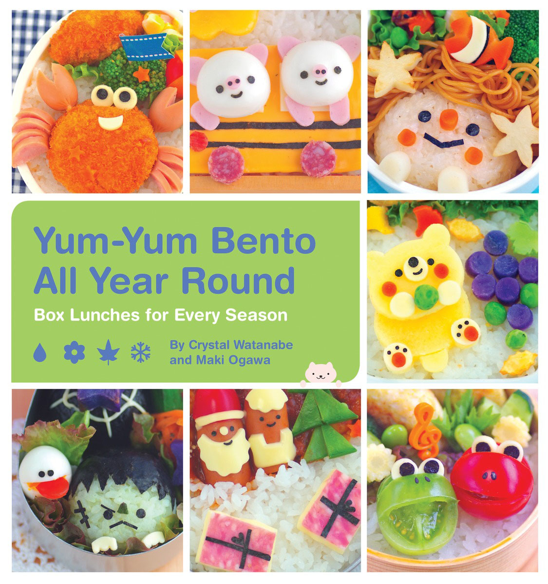 Yum-Yum Bento All Year Round denim lunch bag kid bento box insulated pack picnic drink food thermal ice cooler leisure accessories supplies product
