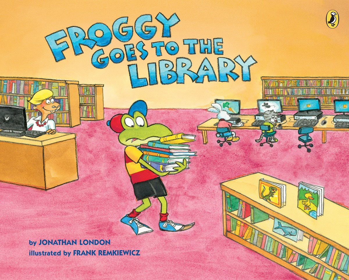 Froggy Goes to the Library the invisible library