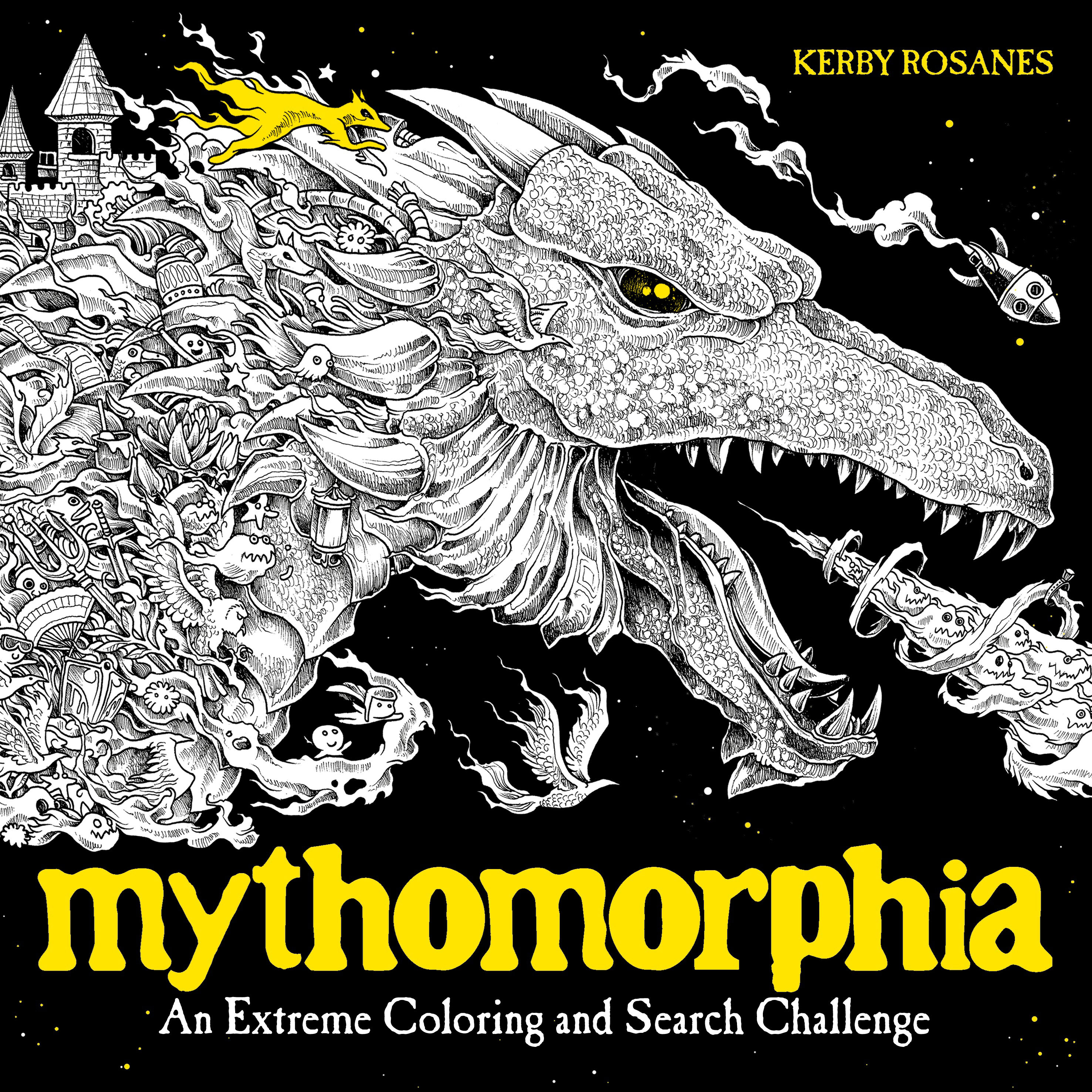 Mythomorphia: An Extreme Coloring and Search Challenge fantastic cities a coloring book of amazing places real and imagined