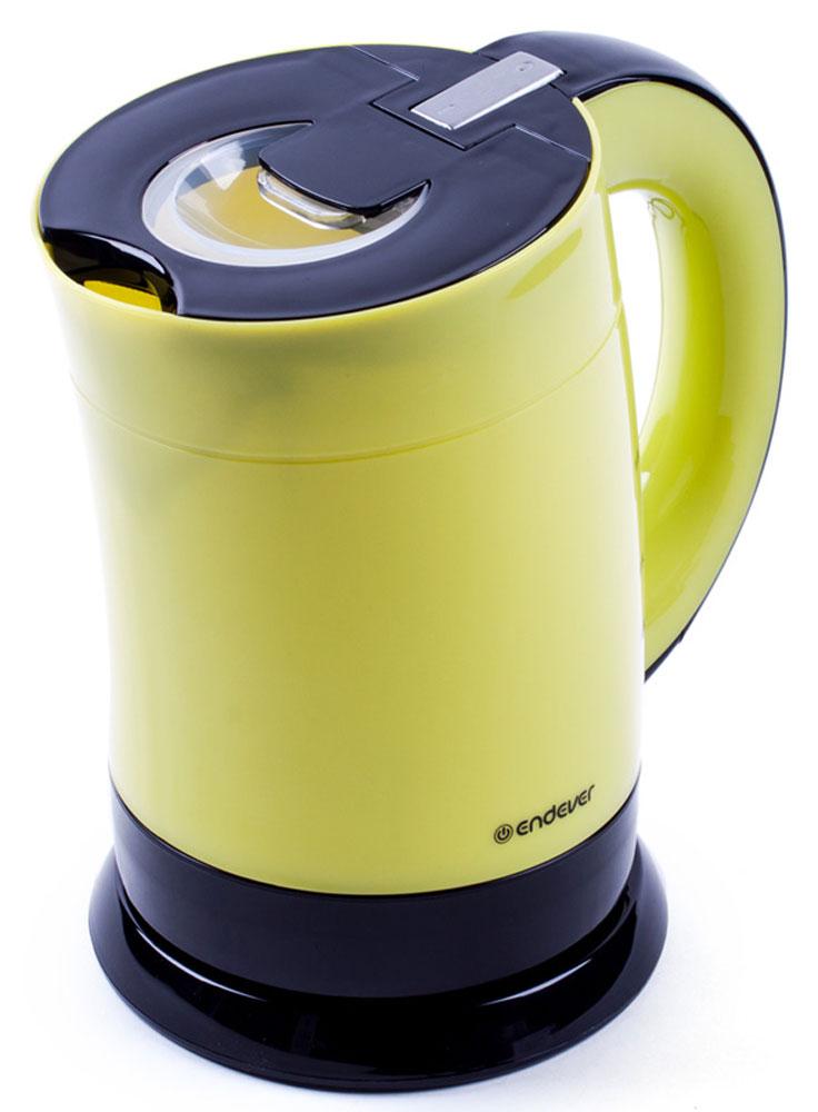 Endever Skyline KR-356 чайник электрическийKR-356Чайник электрический Endever Skyline KR-356 выполнен из высококачественных материалов. Скрытыйнагревательный элемент из нержавеющей стали обеспечивает быстрое закипание и долговечность. Удобныйиндикатор уровня воды помогает контролировать максимальное заполнение, текущий уровень и минимальныйостаток. Удобный прочный механизм открывания крышки позволяет легко набирать воду.