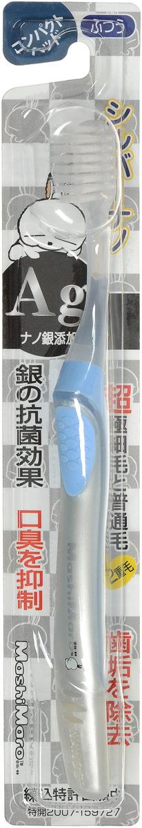 EQ MaxON Зубная щетка c наночастицами серебра, средняя жесткость, цвет: голубой168122_голубойЗубная щетка EQ MaxON разработана по новейшей технологии с добавлением наночастиц серебра, которые препятствуют размножению бактерий и помогают устранить неприятный запах во рту. Двойная щетина способствует эффективному удалению налета с зубов. Ультратонкие и мягкие заостренные верхние щетинки глубоко проникают в труднодоступные для обычных зубных щеток промежутки между зубами. Закругленные нижние щетинки прекрасно удаляют налет на поверхности стыка зубов и на боковых поверхностях.Товар сертифицирован.