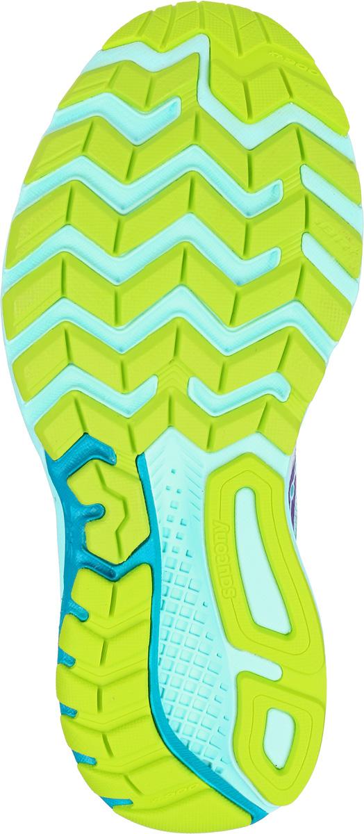 Кроссовки для бега женские Saucony Ride 9, цвет:  белый, бирюзовый.  S10318-7.  Размер 6 (35) Saucony