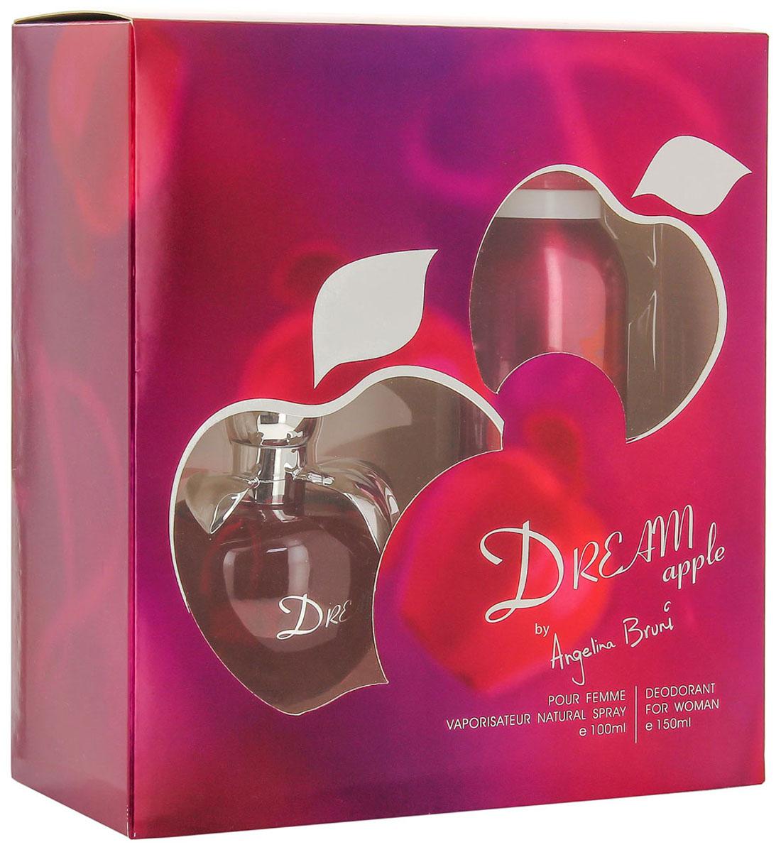 КПК-Парфюм Подарочный набор для женщин Dream Apple: Туалетная вода, 100 мл + Парфюмированный дезодорант, 150 млКПК250DREAM APPLE это аромат для женщин. Верхние ноты: Амальфитанский лимон и лайм; ноты сердца: яблоко Гренни Смит, пион, пралине и дурман; ноты базы: яблоня, мускус и кедр из Вирджинии.