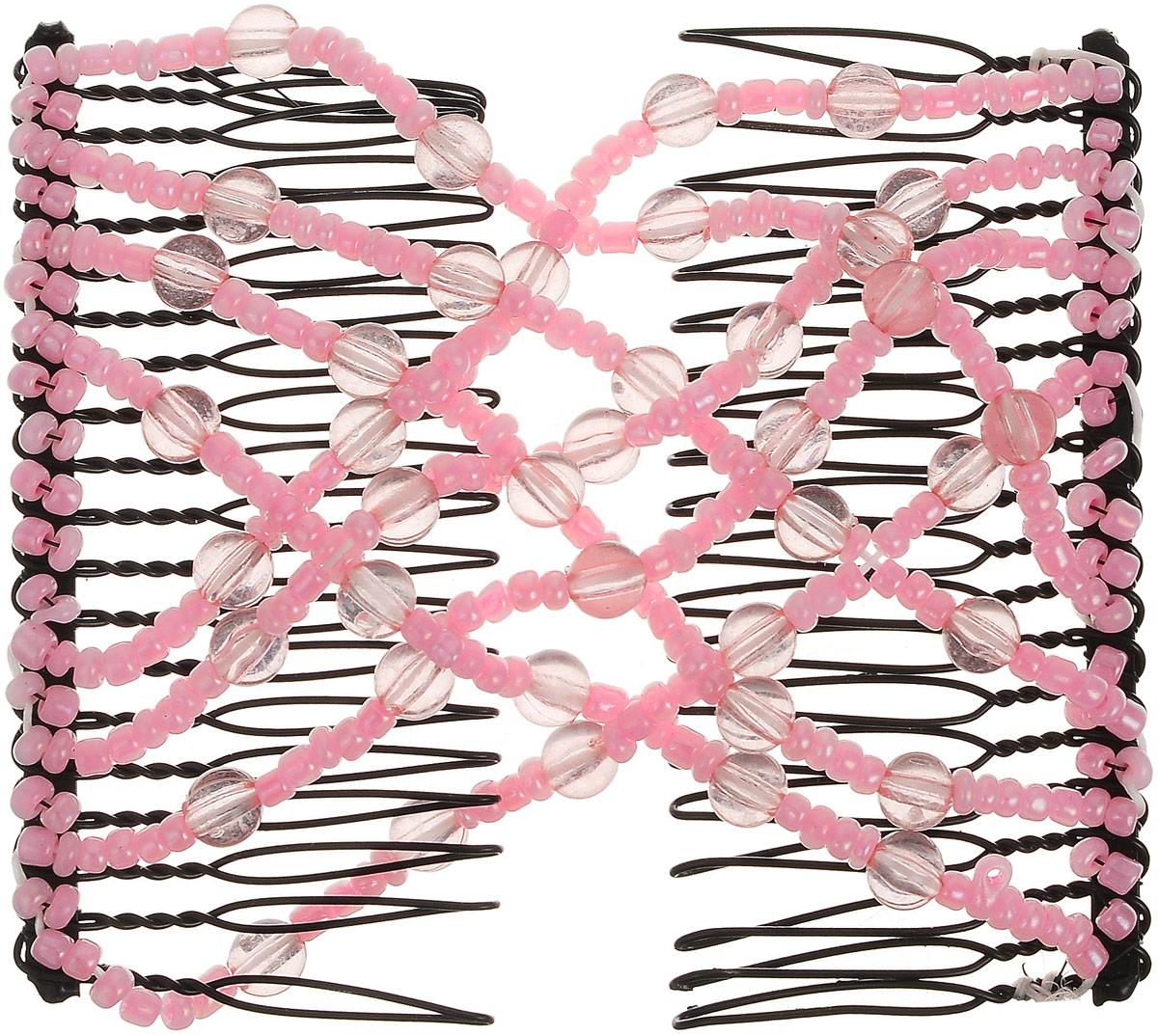 EZ-Combs Заколка Изи-Комбс, одинарная, цвет: розовый. ЗИО_шарикиЗИО_розовый/шарикиУдобная и практичная заколка EZ-Combs подходит для любого типа волос: тонких, жестких, вьющихся или прямых,и не наносит им никакого вреда. Заколка не мешает движениям головы и не создает дискомфорта, когда выотдыхаете или управляете автомобилем.Каждый гребень имеет по 20 зубьев для надежной фиксации заколки на волосах. И даже во время бега и интенсивныхтренировок в спортзале EZ-Combs не падает; она прочно фиксирует прическу, сохраняя укладку в первозданном виде. Небольшая и легкая заколка для волос EZ-Combs поместится в любой дамской сумочке, позволяя быстро и безособых усилий создавать неповторимые прически там, где вам это удобно. Гребень прекрасно сочетается с любойодеждой: будь это классический или спортивный стиль, завершая гармоничный облик современной леди. И неважно,какой образ жизни вы ведете, если у вас есть EZ-Combs, вы всегда будете выглядеть потрясающе.