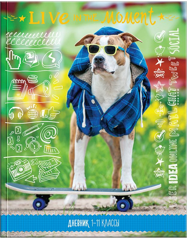 Спейс Дневник школьный Модный пес спейс дневник школьный россия коллаж для 5 11 классов