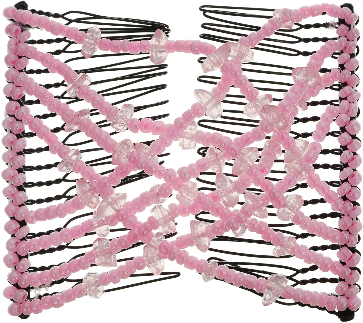 EZ-Combs Заколка Изи-Комбс, одинарная, цвет: розовый. ЗИО_осколкиЗИО_розовый/осколкиУдобная и практичная заколка EZ-Combs подходит для любого типа волос: тонких, жестких, вьющихся или прямых,и не наносит им никакого вреда. Заколка не мешает движениям головы и не создает дискомфорта, когда выотдыхаете или управляете автомобилем.Каждый гребень имеет по 20 зубьев для надежной фиксации заколки на волосах. И даже во время бега и интенсивныхтренировок в спортзале EZ-Combs не падает; она прочно фиксирует прическу, сохраняя укладку в первозданном виде. Небольшая и легкая заколка для волос EZ-Combs поместится в любой дамской сумочке, позволяя быстро и безособых усилий создавать неповторимые прически там, где вам это удобно. Гребень прекрасно сочетается с любойодеждой: будь это классический или спортивный стиль, завершая гармоничный облик современной леди. И неважно,какой образ жизни вы ведете, если у вас есть EZ-Combs, вы всегда будете выглядеть потрясающе.
