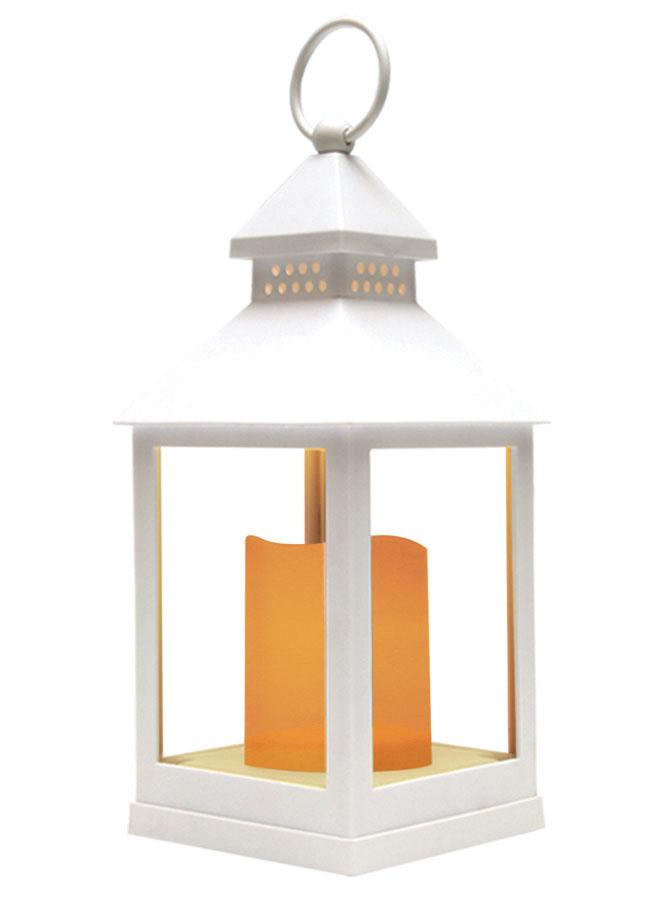 Фонарь Proffi Home, с LED свечкой, цвет: белый, 10,5 x 10,5 x 24 см веник березовый proffi home