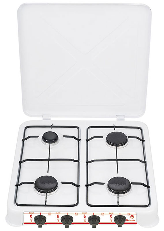 Василиса ГП4-2050, White плитка газовая - Настольные плиты