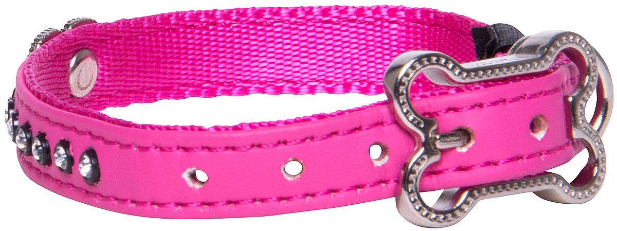 Ошейник для собак Rogz Luna, цвет: розовый, ширина 1,6 см. Размер M ошейник строгий для собаки