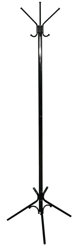 Вешалка напольная ЗМИ Тройка, цвет: черный, 176 х 63 смВНП 102 ЧВешалка -стойка Тройка гармонично впишется почти в любой интерьер. Напольная вешалка обладает повышенной функциональностью. Конструкция изделия состоит из 3 верхних крючков, 3 нижних крючков и устойчивых опор. Металлическая вешалка надежна и проста в уходе. Данное изделие полностью безопасно в использовании.Назначение: Для размещения верхней одежды. Область применения: В любых помещениях – дом, офис, общепит и других. Материал: Стальная труба диаметром 10, 16, 30 мм; стальные колпачки; пластиковые заглушки; полимерно-порошковое покрытие. Конструкция: Разборная, состоит из 2 сварных частей, стыкуется по центру. Упаковка: ПЭТ пленка. Габариты (Д х Ш х В):В собранном виде: 1760 х 630 мм. В упакованном виде: 975 х 555 мм.Вес Нетто: 1,9 кг. Вес Брутто: 2 кг. Объем: 0,03 куб.м. Отличительные особенности: - надежная сварная конструкция;- занимает немного места;- классическая модель. При правильной эксплуатации срок службы 10 лет.