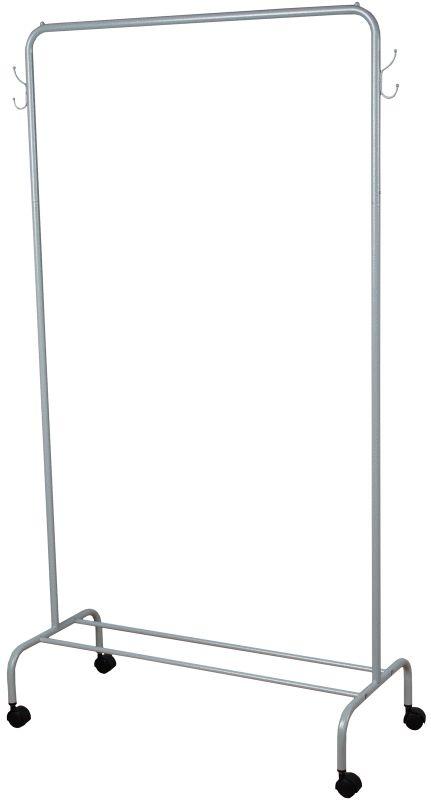 Вешалка гардеробная ЗМИ Радуга 2, с полкой для хранения обуви, цвет: белый, серебристый, 89,2 х 39 х 154 смВНП 299 БСВешалка Радуга 2 подойдет для размещения вашего гардероба. Альтернатива шкафу в спальне, детской и прихожей. Разборная конструкция позволяет приобрести данное изделие в коробке. Металлическая вешалка надежна и проста в уходе. Данное изделие полностью безопасно в использовании.Назначение: Гардеробная вешалка для размещения одежды. Область применения: В любых помещениях – дом, офис, общепит и других. Материал: Труба диаметров 18 мм, труба диаметром 12 мм; стальные шарики; полимерно-порошковое покрытие. Конструкция: Разборная. Упаковка: Коробка. Габариты (Д х Ш х В): В собранном виде: 892 х 390 х 1540 мм. В упакованном виде: 1290 х 405 х 45 мм. Вес Нетто: 2,06 кг. Вес Брутто: 2,56 кг. Объем: 0,023 м3. Отличительные особенности: - Пластиковые заглушки;- Нагрузка до 20 кг;- Вместимость до 15 плечиков;- Полка для размещения обуви.