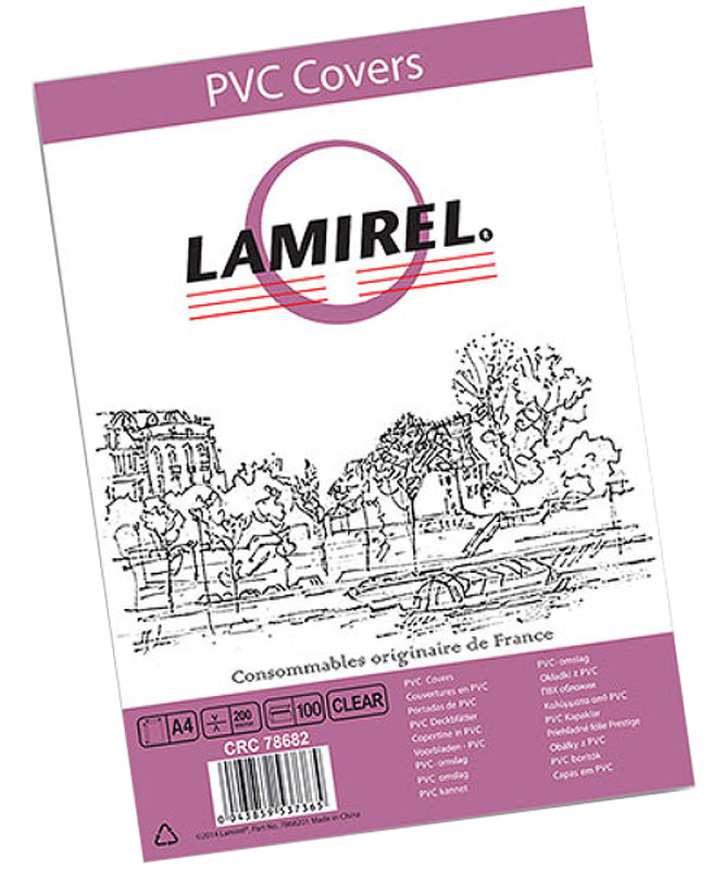 Lamirel LA-78682 Transparent A4 обложка для переплета (100 шт) 1 transparent