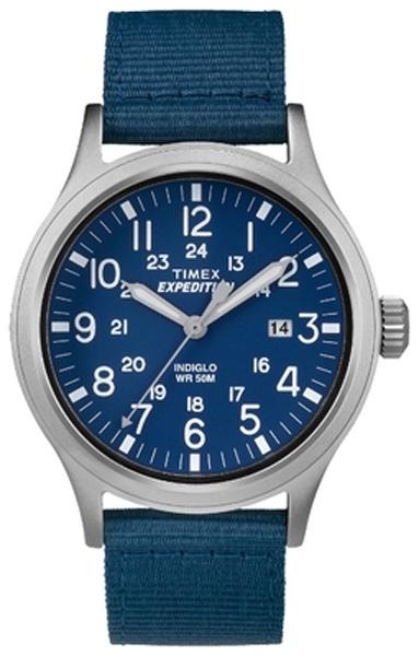 Наручные часы женские Timex Expedition, цвет: синий, серебряный. TW4B07000