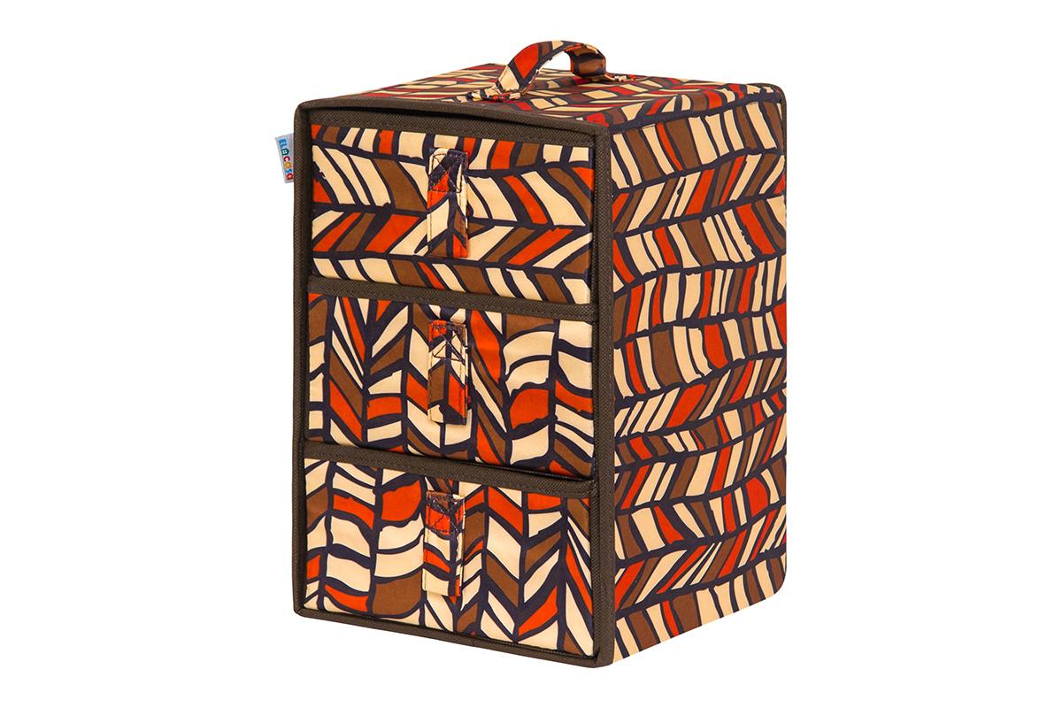 Кофр для хранения вещей EL Casa Африка, складной, 21 х 21 х 31 см кофр складной для хранения el casa песочная мозаика 31 х 31 х 31 см