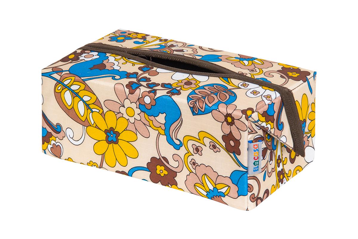 Органайзер для мелочей и косметики EL Casa Сияние лета, складной, 20 х 12 х 95 см840312Удобный и компактный органайзер для хранения салфеток. Его можно также использовать как косметичку для хранения баночек и тюбиков, кремов, парфюмерии и лаков. Изготовлен из высококачественного нетканного материала.