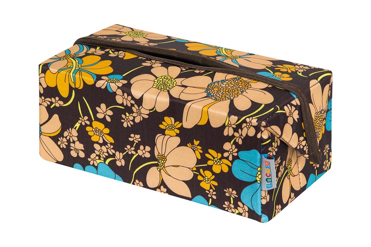 Органайзер для мелочей и косметики EL Casa Ромашковое поле, складной, 20 х 12 х 95 см840313Удобный и компактный органайзер для хранения салфеток. Его можно также использовать как косметичку для хранения баночек и тюбиков, кремов, парфюмерии и лаковИзготовлен из высококачественного нетканного материала.