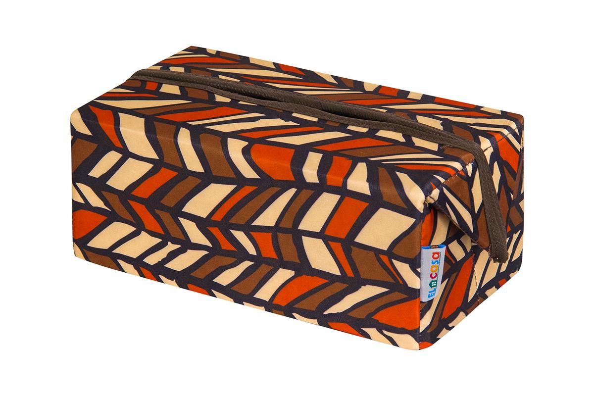 Органайзер для мелочей и косметики EL Casa Африка, складной, 20 х 12 х 9,5 см840314Удобный и компактный органайзер для хранения салфеток. Его можно также использовать как косметичку для хранения баночек и тюбиков, кремов, парфюмерии и лаковИзготовлен из высококачественного нетканного материала.