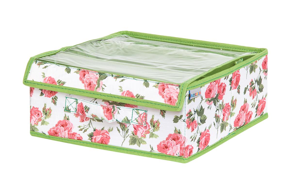 Органайзер EL Casa Розовый рассвет с прозрачной вставкой, 20 х 12 х 95 см840317Кофр на 3 секции подходит для хранения нижнего белья, колготок, носков и другой одежды. Прозрачная крышка позволяет видеть содержимое кофра, не открывая егоТакой органайзер позволит вам хранить вещи компактно и удобно.