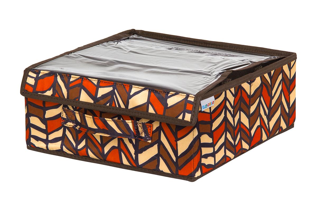 Органайзер EL Casa Африка, 3 секции, с прозрачной вставкой, 20 х 12 х 95 см840320Кофр на 3 секции подходит для хранения нижнего белья, колготок, носков и другой одежды. Прозрачная крышка позволяет видеть содержимое кофра, не открывая его. Такой органайзер позволит вам хранить вещи компактно и удобно. Размер 28х28х12 см.