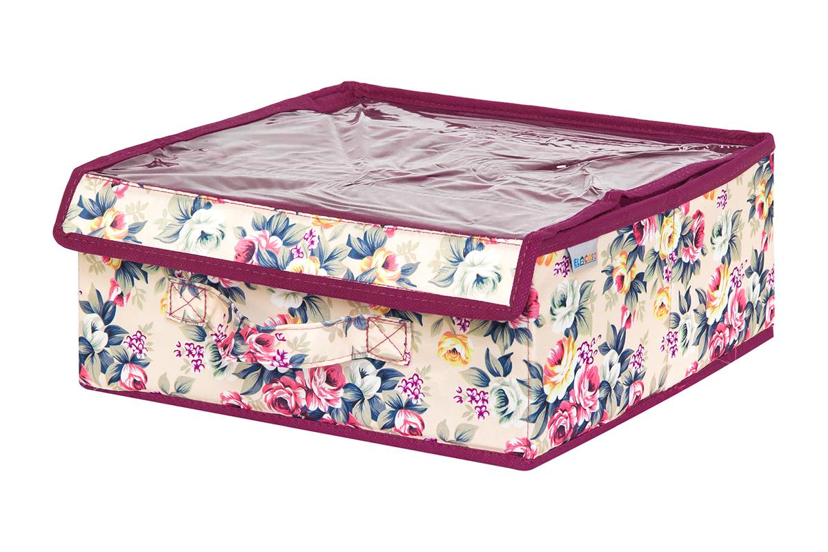 Органайзер EL Casa Розовый букет, 3 секции, с прозрачной вставкой, 28 х 28 х 12 см840321Кофр на 3 секции подходит для хранения нижнего белья, колготок, носков и другой одежды. Прозрачная крышка позволяет видеть содержимое кофра, не открывая его. Такой органайзер позволит вам хранить вещи компактно и удобно. Размер 28х28х12 см.