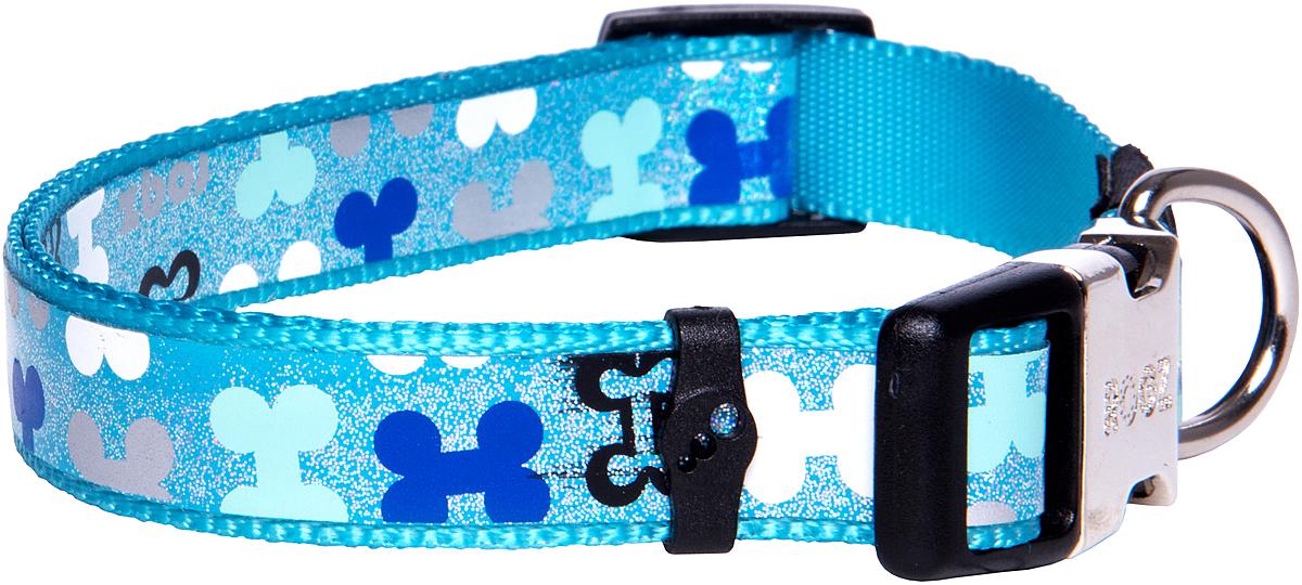 Ошейник для собак Rogz  Trendy  , цвет: голубой, ширина 1,6 см - Товары для прогулки и дрессировки (амуниция)