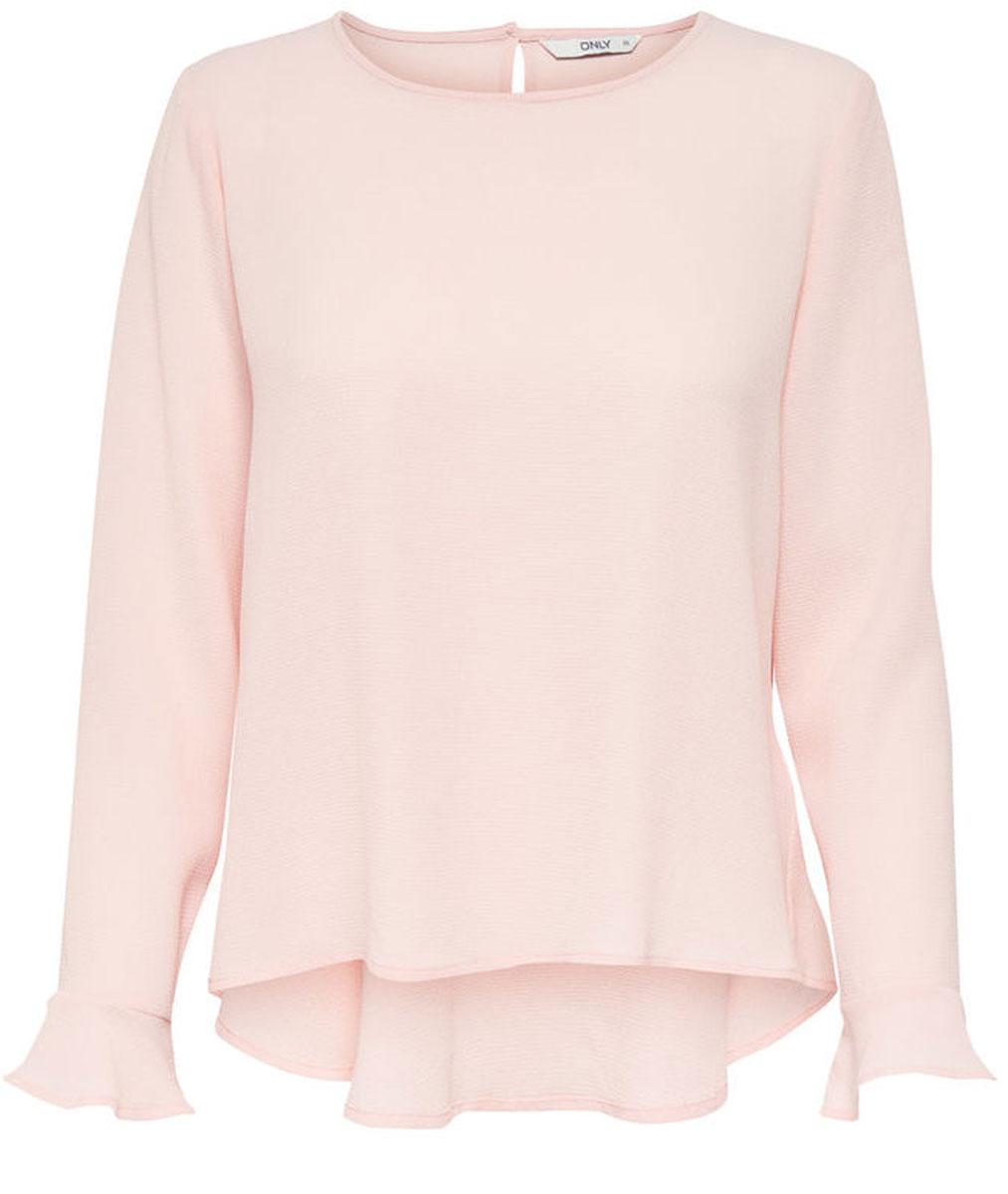 Блузка женская Only, цвет: розовый. 15135076_Peach Whip. Размер 42 (48) only парка женская