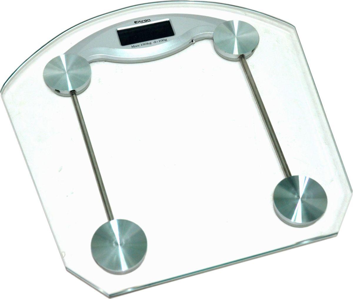 Весы напольные Eltron, электронные, цвет:прозрачный, до 180 кг. 9220EL весы eltron весы электронные