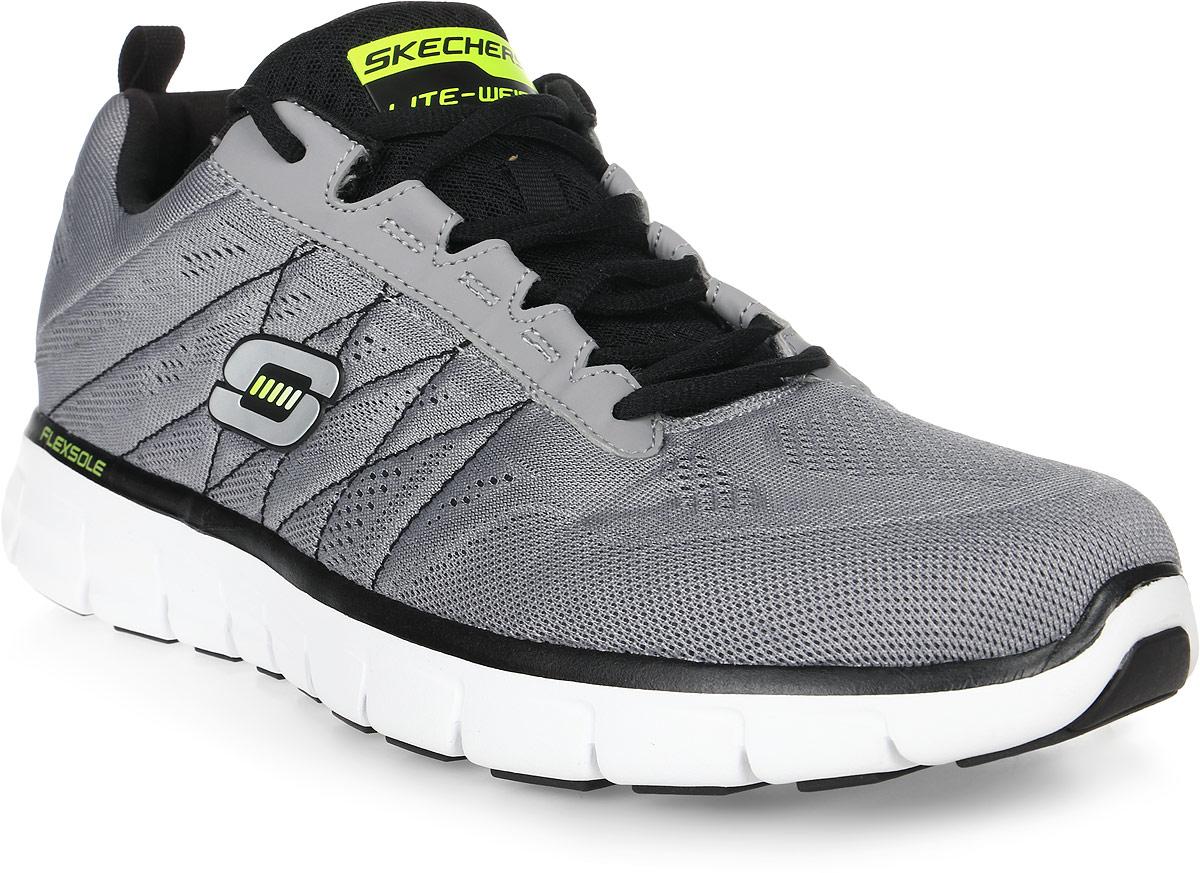 Кроссовки мужские Skechers Synergy-Power Switch, цвет: серый. 51188-LGBK. Размер 10 (43,5)51188-LGBKСтильные мужские кроссовки Skechers отлично подойдут для активного отдыха и повседневной носки. Верх модели выполнен из текстиля. Удобная шнуровка надежно фиксирует модель на стопе. Подошва обеспечивает легкость и естественную свободу движений. Мягкие и удобные, кроссовки превосходно подчеркнут ваш спортивный образ и подарят комфорт.
