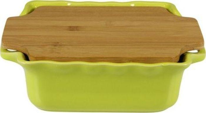 Форма для выпечки Appolia Cook&Stock, с доской, цвет: светло-зеленый, 1,8 л130025501Форма для выпечки Appolia Cook&Stock изготовлена из керамики с глазурированным покрытием. Прочная жароустойчивая керамика экологична и изготавливается из высококачественной глины. Прочная глазурь устойчива к растрескиванию и сколам, не содержит свинца и кадмия. Форма удобна при использовании. Закругленные углы облегчают чистку. В комплект входят натуральные крышки из бамбука, которые можно использовать в качестве подставки, крышки и разделочной доски.