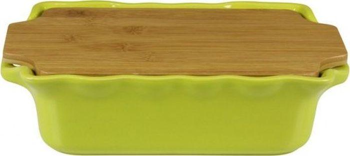 Форма для выпечки Appolia Cook&Stock, прямоугольная, с доской, цвет: светло-зеленый , 1,7 л131029001В оригинальной коллекции Cook&Stoock присутствуют мягкие цвета трех оттенков. Закругленные углы облегчают чистку. Легко использовать. Компактное хранение. В комплекте натуральные крышки из бамбука, которые можно использовать в качестве подставки, крышки и разделочной доски. Прочная жароустойчивая керамика экологична и изготавливается из высококачественной глины. Прочная глазурь устойчива к растрескиванию и сколам, не содержит свинца и кадмия. Глина обеспечивает медленный и равномерный нагрев, деликатное приготовление с сохранением всех питательных веществ и витаминов, а та же долго сохраняет тепло, что удобно при сервировке горячих блюд.